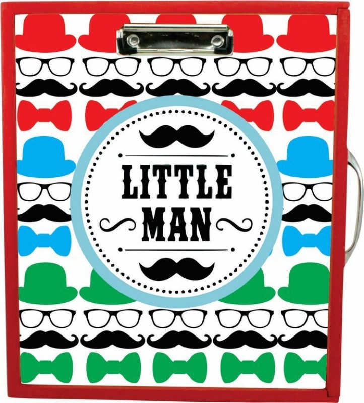 Enigmatic Woodworks Wooden Art Box - Little Man Theme(Red)