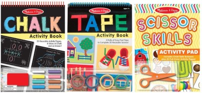 Melissa & Doug Scissors Tape and Chalk Activity Bundle