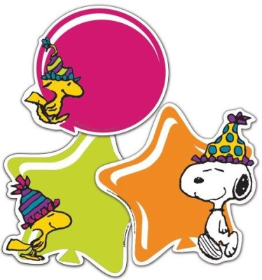 Eureka Peanuts Birthday Assorted Paper Cut-Outs