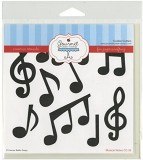 Gourmet Rubber Stamps Musical Notes Sten...