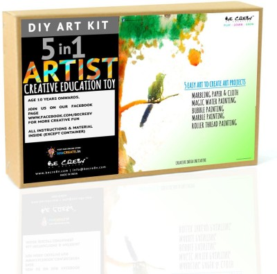 Be Cre8v 5 In 1 Art Craft Kit