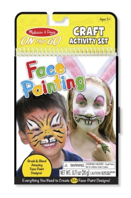 Melissa & Doug Face Coloring On the Go Craft Activity Melissa Doug Scratch Art Mini Pad Bundle