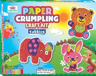 Happy Kidz Paper Crumpling Craft kit - Cutties