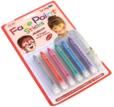 Lucky Art Non Toxic Face Painting Sticks