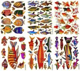 Sticker108 Fish004 6 Sheets of Scrapbook...