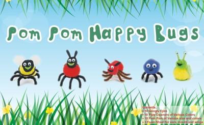 Atanands Acitivity Kit PomPom Happy Bugs