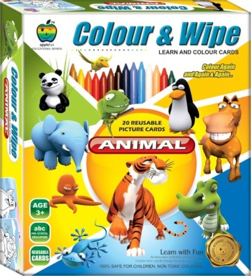 Apple Fun Colour & Wipe Animals Jr.