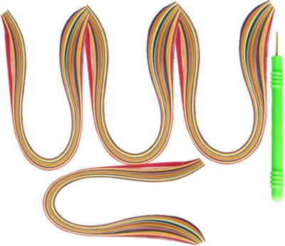 Udhayam Multicolor Quilling Paper(3mm&5mm) And Needle