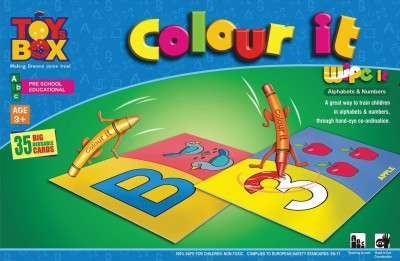 Toysbox Colour It Wipe It - Alphabets & Numbers