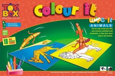 Toysbox Colour It Wipe It - Animals