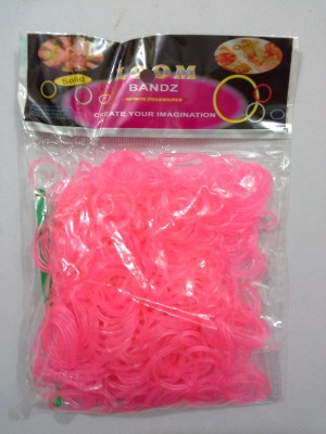 Shatchi 600 Pink Glow In Dark Loom Band Refill Kit Kids Toys Arts Crafts With S Clips & Hook,Gift For Birthday, Anniversary, Festival