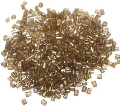 Jaunty Beadsnfashion Seed Bugles Beads Mehndi Rainbow (100 Gm)