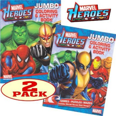 Marvel Heroes Avengers Jumbo Coloring And Activity Book