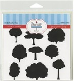 Gourmet Rubber Stamps Trees Stencil, 6 x...