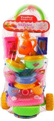 Ankit Toys Trolly Kitchen Set