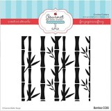 Gourmet Rubber Stamps Bamboo Stencil, 6 ...