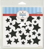 Gourmet Rubber Stamps Stars Stencil, 6 x...