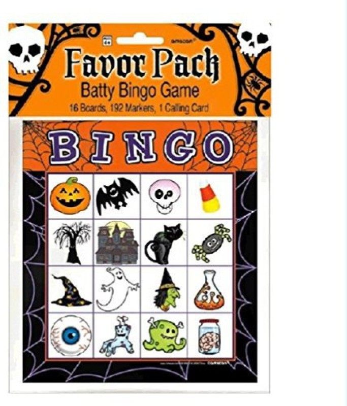 Amscan Halloween Bingo Game for 16 players