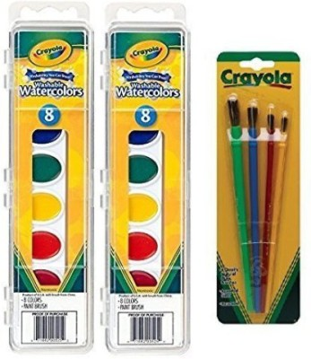 Crayola Watercolor Paints Washable 8 Primary Colors