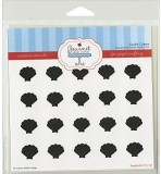 Gourmet Rubber Stamps Sea Shells Stencil...
