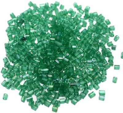 Jaunty Beadsnfashion 2 Cut Seed Bugles Beads Green Rainbow (100 Gm)