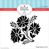 Gourmet Rubber Stamps Flower Group Stenc...