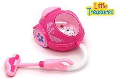 Little Treasures Little Treasures mini cleaning appliance for kids 3+ girl's battery powered vacuum cleaner with a hose pipe, suction part and a transparent bin, enjoy cleaning toy Mini Appliances helper set
