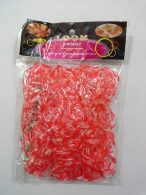 Shatchi 8 Tone Red And Transparent 600 Loom Band Refill Kit Kids Arts Crafts Toys With S Clips & Hook,Birthday, Anniversary, Festival