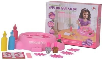 Ochre Spin Art Nail Salon