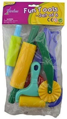 Strokes Art Supplies Strokes Art Clay and Dough Tools Six Piece Set - Ages 3 & Up