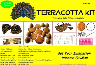 Art and Craft Creations Terracotta Jewelry Making Kit
