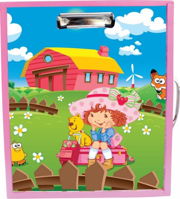 Enigmatic Woodworks Wooden Art Box - Farm House Theme3(Pink)