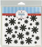 Gourmet Rubber Stamps Daisies Stencil, 6...
