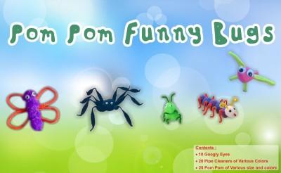Atanands Acitivity Kit PomPom Funny Bugs