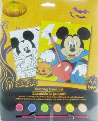 Disney Mickey Mouse Halloween Fun Coloring Paint Set