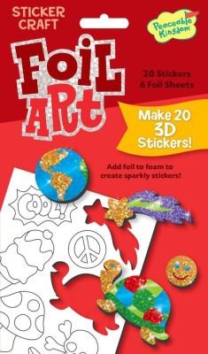 Peaceable Kingdom Foil Art Fun Stuff Sticker Craft Pack
