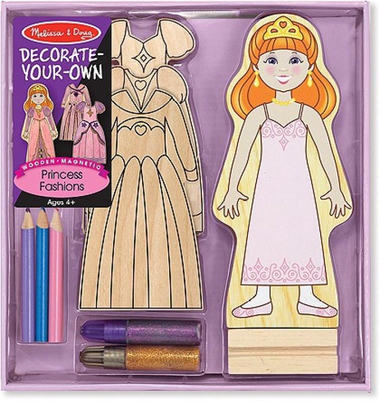 Melissa & Doug Dyo Wooden Magnetic Princess Fashions