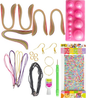 Vipra 15 Piece Quilling Jewellery kit with 600 papers