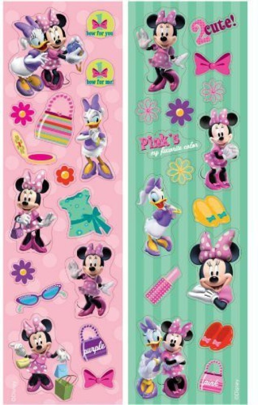 Amscan Minnie Mouse 8 Strips Stickers