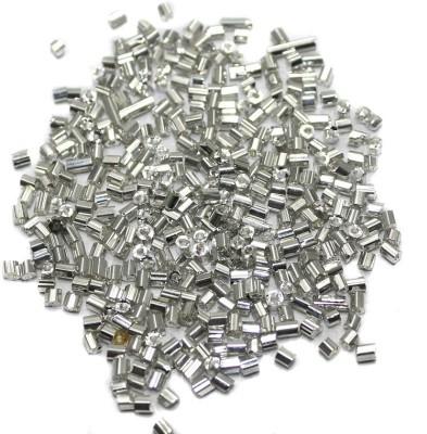 Jaunty Beadsnfashion Seed Bugles Beads Silver (100 Gm)