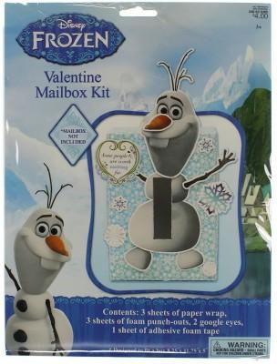 Disney Frozen New Valentine Mailbox KIT Olaf Snowman