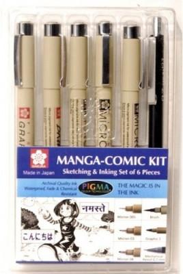 Sakura Sketching & Inking Set of 6 Pieces Pens