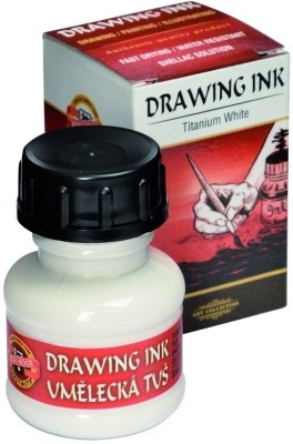 Koh-I-Noor 141750 Drawing Ink (Titanium White)