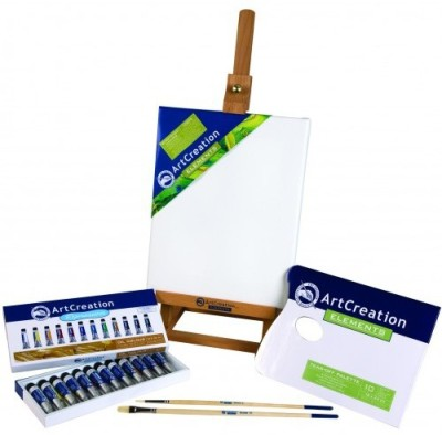 Royal Talens Art Creation OIL COLORS COMBI SET(WITH EASEL)