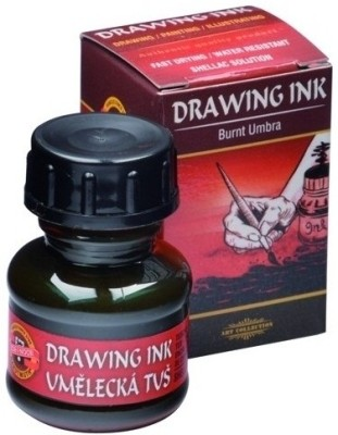 Koh-I-Noor 141760 Drawing Ink (Burnt Umber)