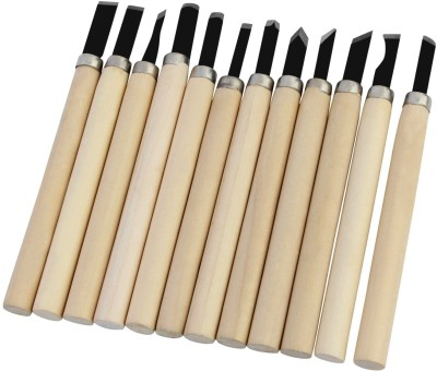 Pigloo 12 Pieces Wood Carving Hand Chisels Knife Tools- Art Set