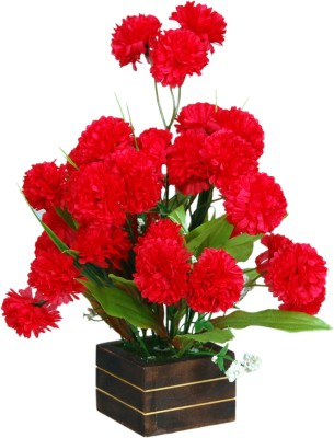Loxia 4014A Red Carnations Artificial Flower  with Pot