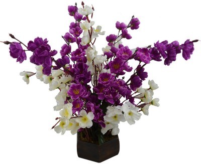 The Fancy Mart FP-0848-668 Multicolor Wild Flower Artificial Flower  with Pot