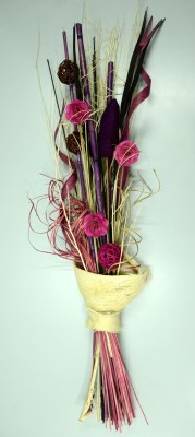 Exotic Creations Pink Sands Dried Bouquet Multicolor Assorted Artificial Flower