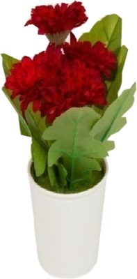 Flowers Forever Red Gerbera Artificial Flower  with Pot(Pack of 1)